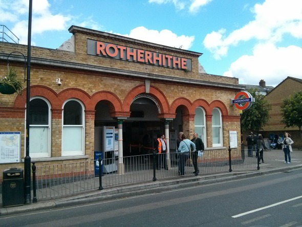 "Rotherhithe station entrance - Taken from an article ""A weekend with the girlfriend"" by DannyUK.com"