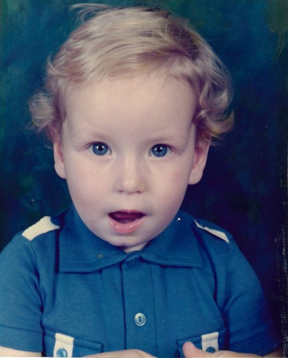 Dan as a toddler