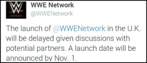 WWE Network UK launch announcment for November header