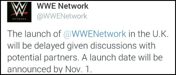 WWE Network to launch in UK in November… maybe!