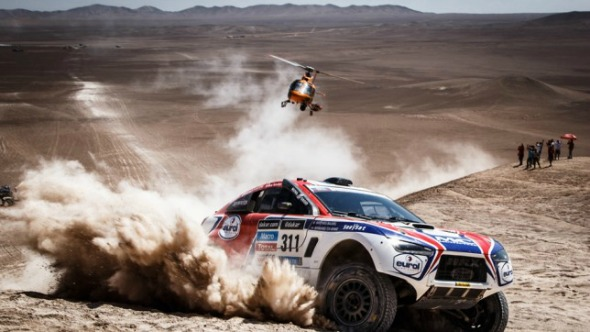 Dakar Rally, helicopter, car, dust, dirt