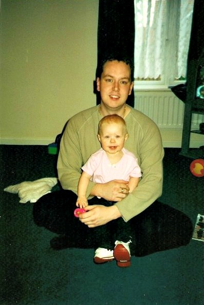 TBT - Eldest daughter, aged 1, with me
