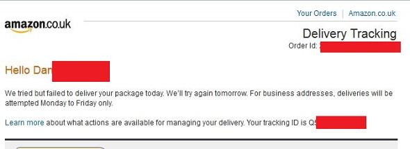 Amazon Prime failed delivery - DannyUK