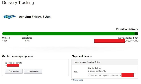 Amazon lost order