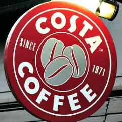 Costa Coffee sign Square