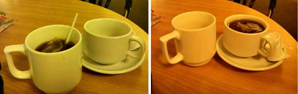 Monkey Puzzle Maldon - Cup vs Mug - Madison Heights Maldon - Taken from a review by DannyUK.com