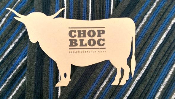 Chop Bloc Launch Party invite