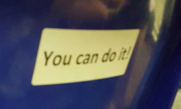GCSE changes - You can do it sticker - Taken from the article 'GCSE changes' by DannyUK.com