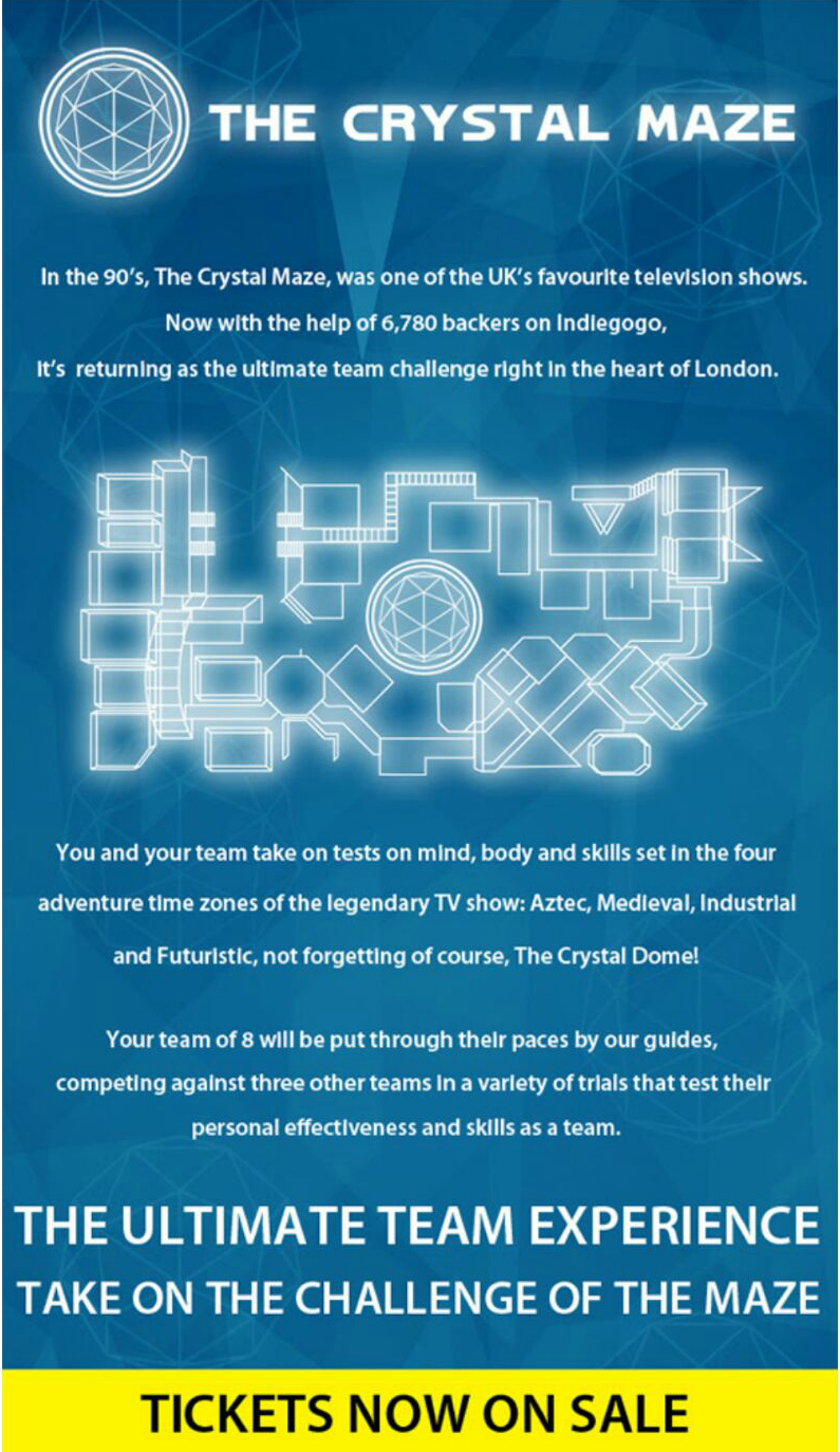 Crystal Maze London - Taken from a DannyUK.com article.