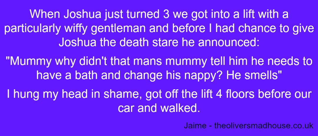 Embarrassing Children - Jaime - Taken from a DannyUK.com article