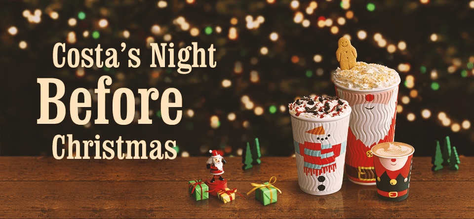 Costa Christmas menu - Costa Night before Christmas - Costa Christmas drinks menu 2014