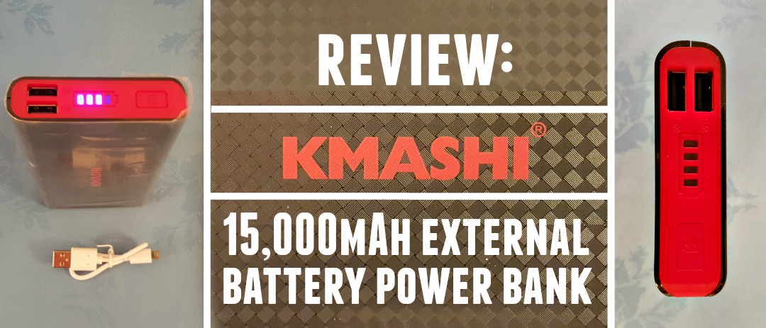 Review: KMASHI 15,000mAh External Battery Power Bank