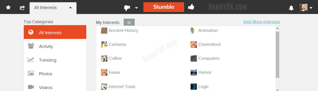 What is Stumbling? Add interests to StumbleUpon (How to use StumbleIUpon)