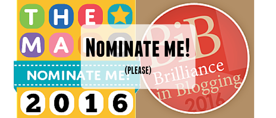 Please vote for me!  BiBs 2016 & The MADs 2016