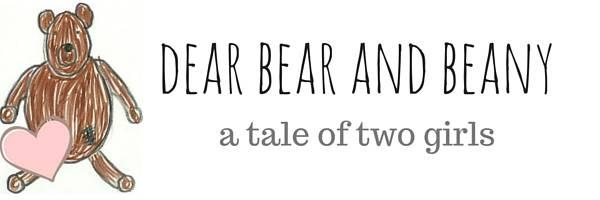 Dear Bear and Beany blog header