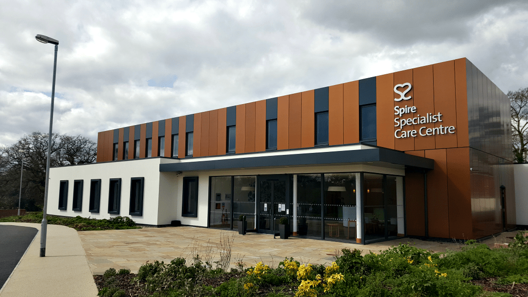 Spire Specialist Care Centre Chelmsford for cancer treatment and gene testing