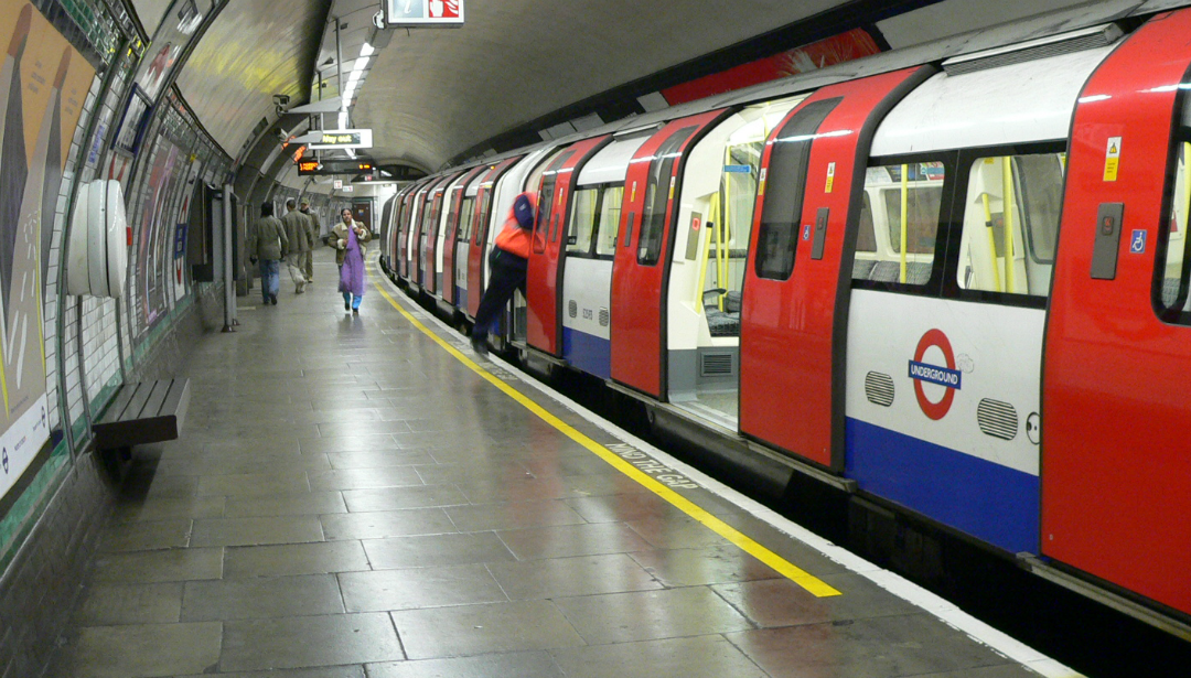 Tube train - Don't be a dick - Doors aren't big enough when takings kids on the underground! Photo taken from Wikimedia