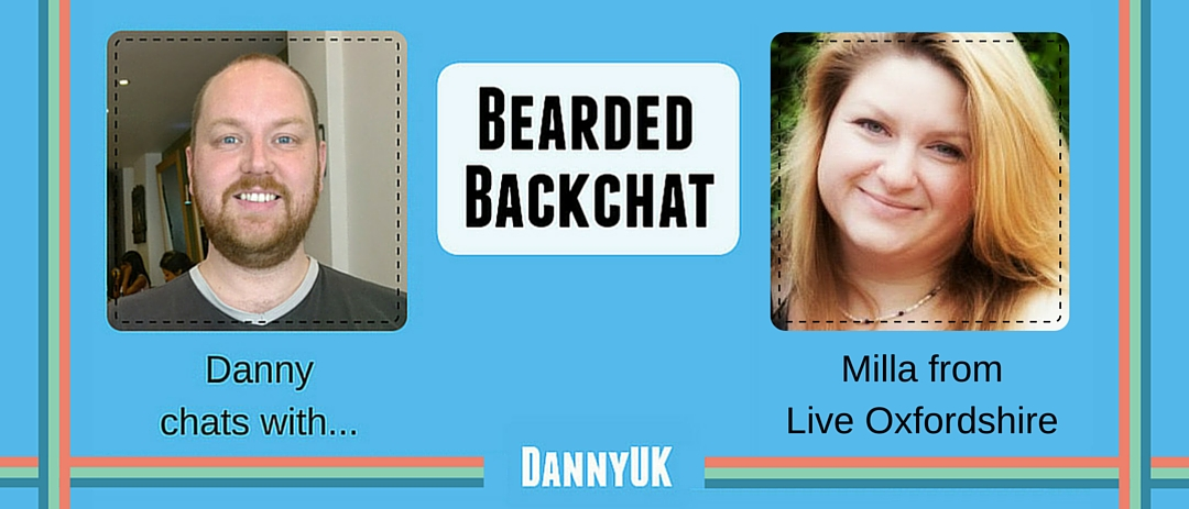 Milla from LiveOxfordshire.com Bearded Backchat header