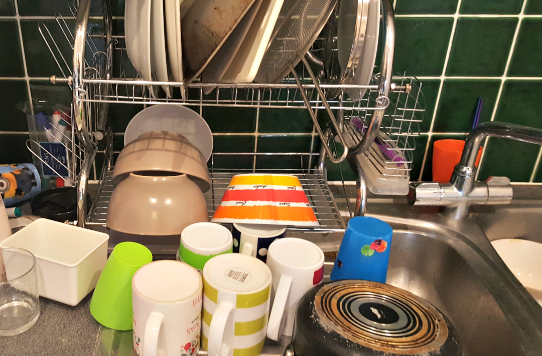 Day 4 with the kids - Washing up