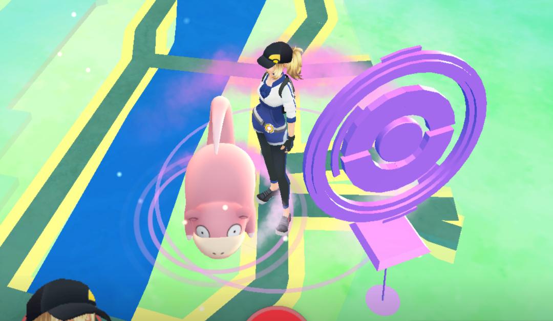 Catching a Pokemon - Slowpoke