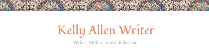 Kelly Allen Writer blog header