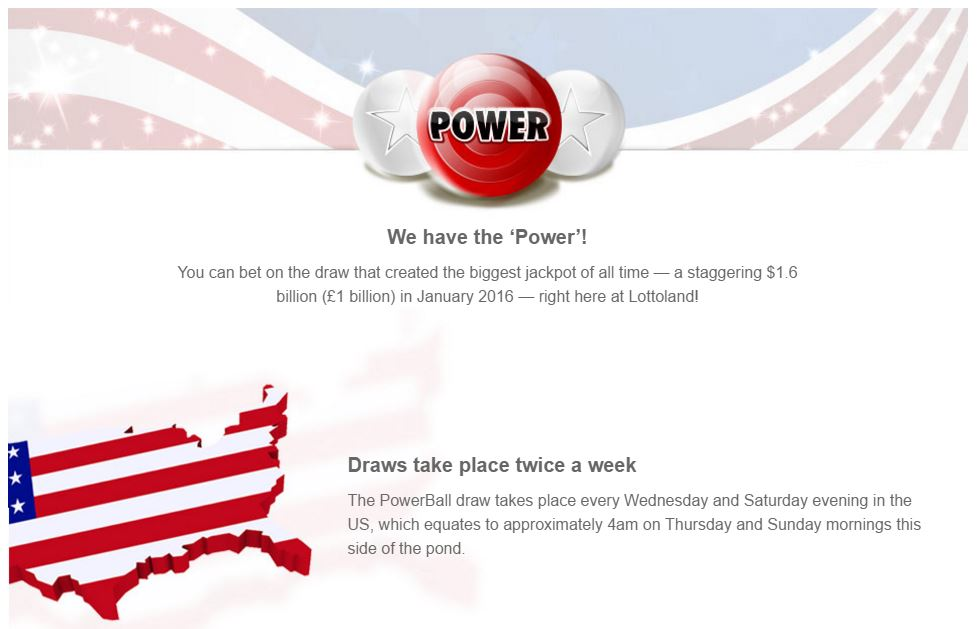 Play Powerball in the UK with Lottoland