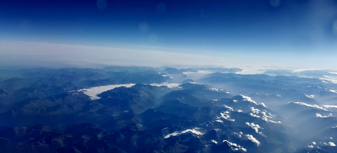 View of Italy from the plane