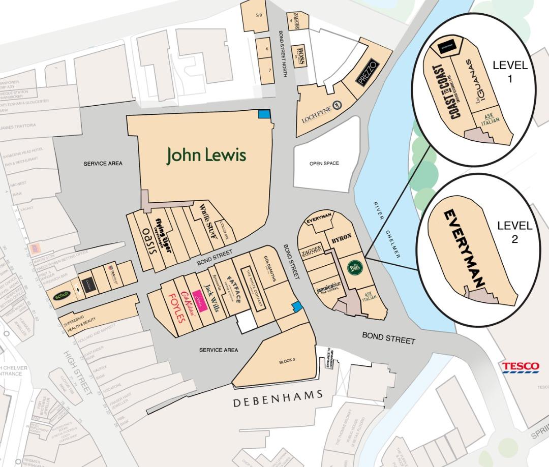 Map of Bond Street Chelmsford