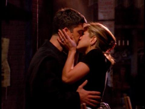 Ross and Rachel first kiss