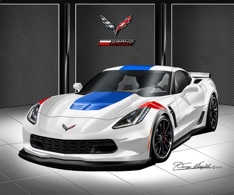 2015 CHEVROLET CORVETTE Z06 ART BY DANNY WHITFIELD
