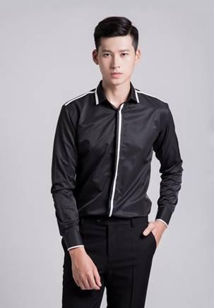 áo sơ mi nam trắng đen - 3