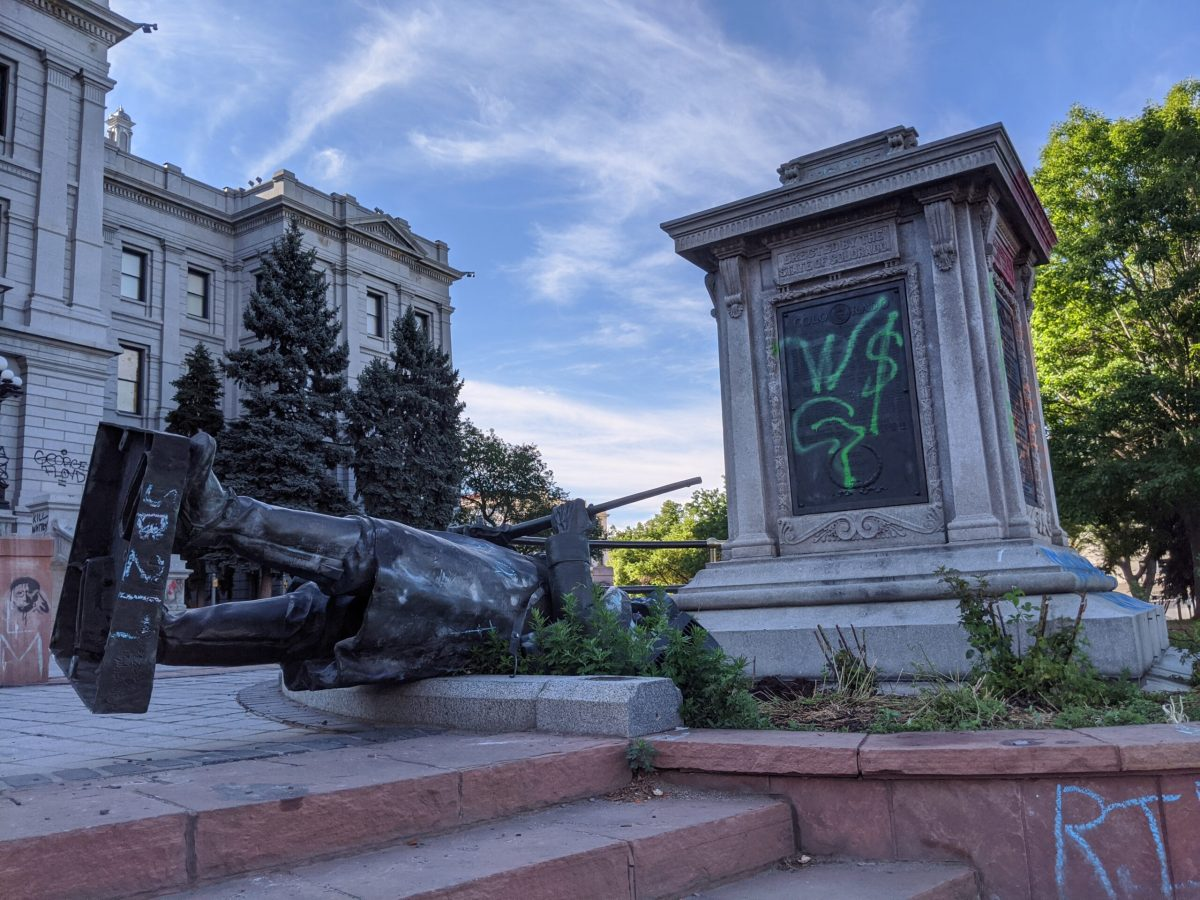 Toppled Civil Battle statue at Colorado Capitol to be replaced sculpture of Indigenous American woman