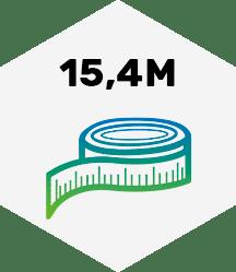 15,4 Meter