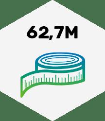 62,7 Meter