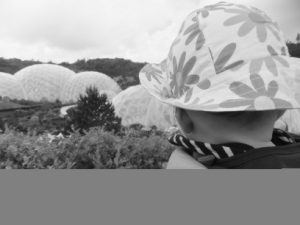Annabel looks out over the Eden Project