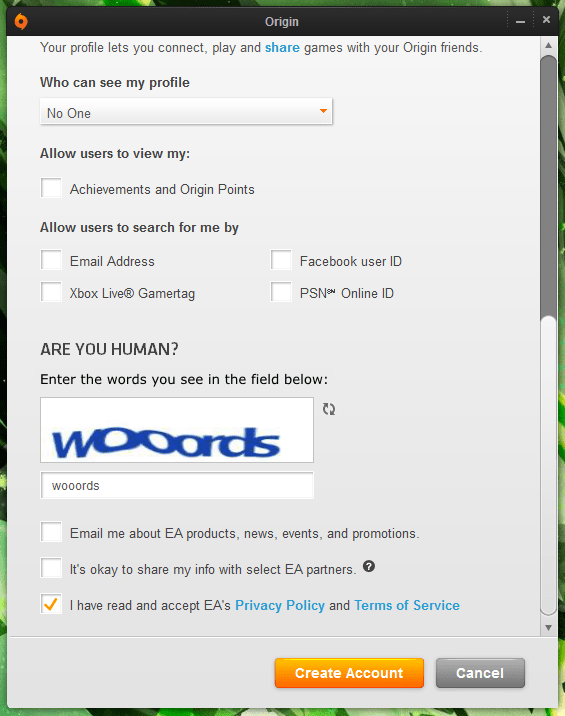 "CAPTCHA labelled ""Enter the words you see"" and the word is ""wooords"""