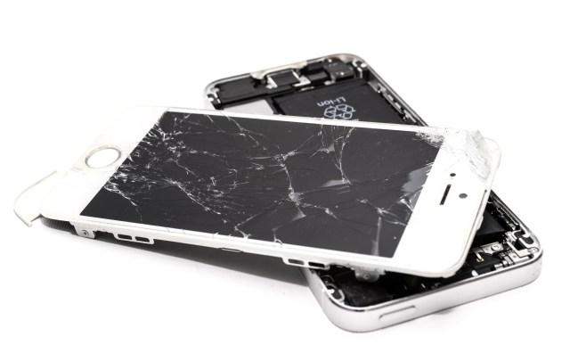 Thoroughly broken iPhone.