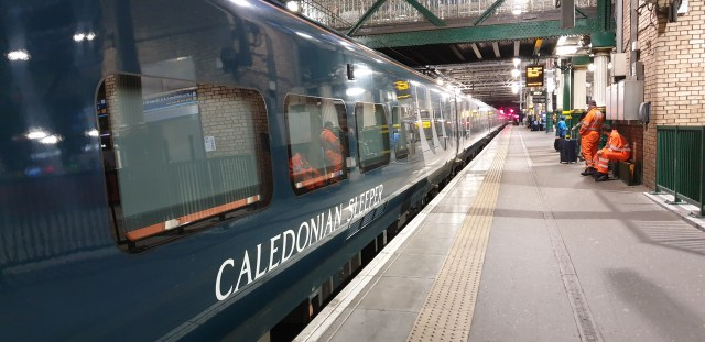 Caledonian Sleeper in Edinburgh