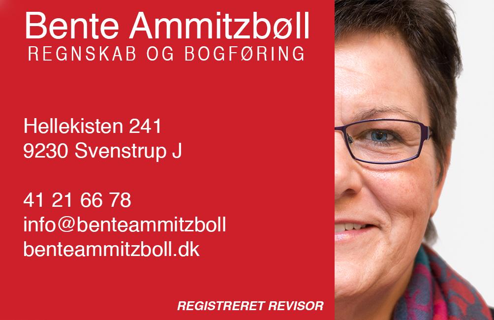 Bente Ammitzbøll Visitkort 2015