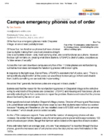 Campus emergency phones out of order