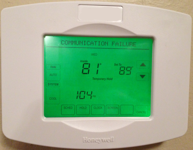 Thermostat - Connection Error