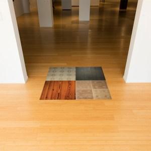 Floor Models, installation at Kutztown University's Miller Art Gallery, 2016