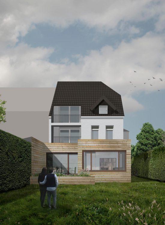 Perspektive der Erweiterung einer Altbauwohnung