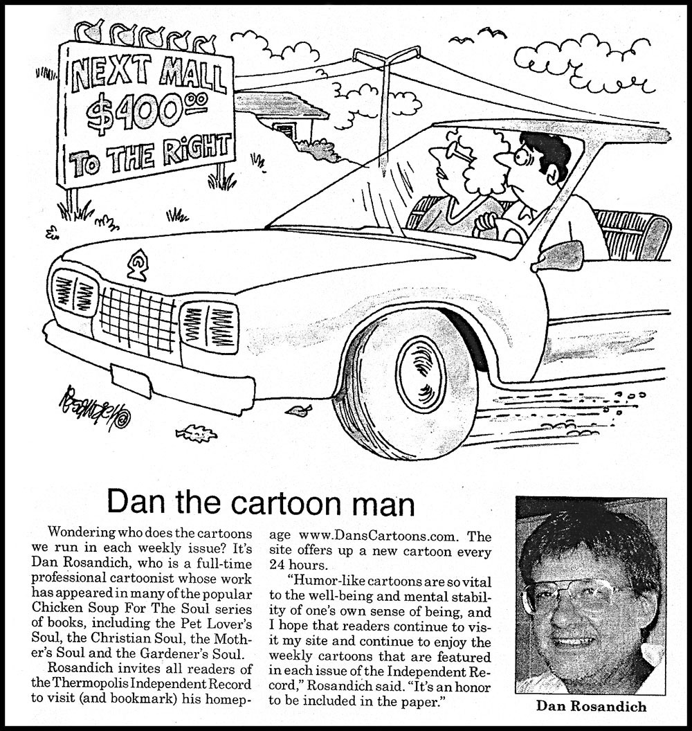 CARTOONIST DAN ROSANDICH ONLINE PROFILES