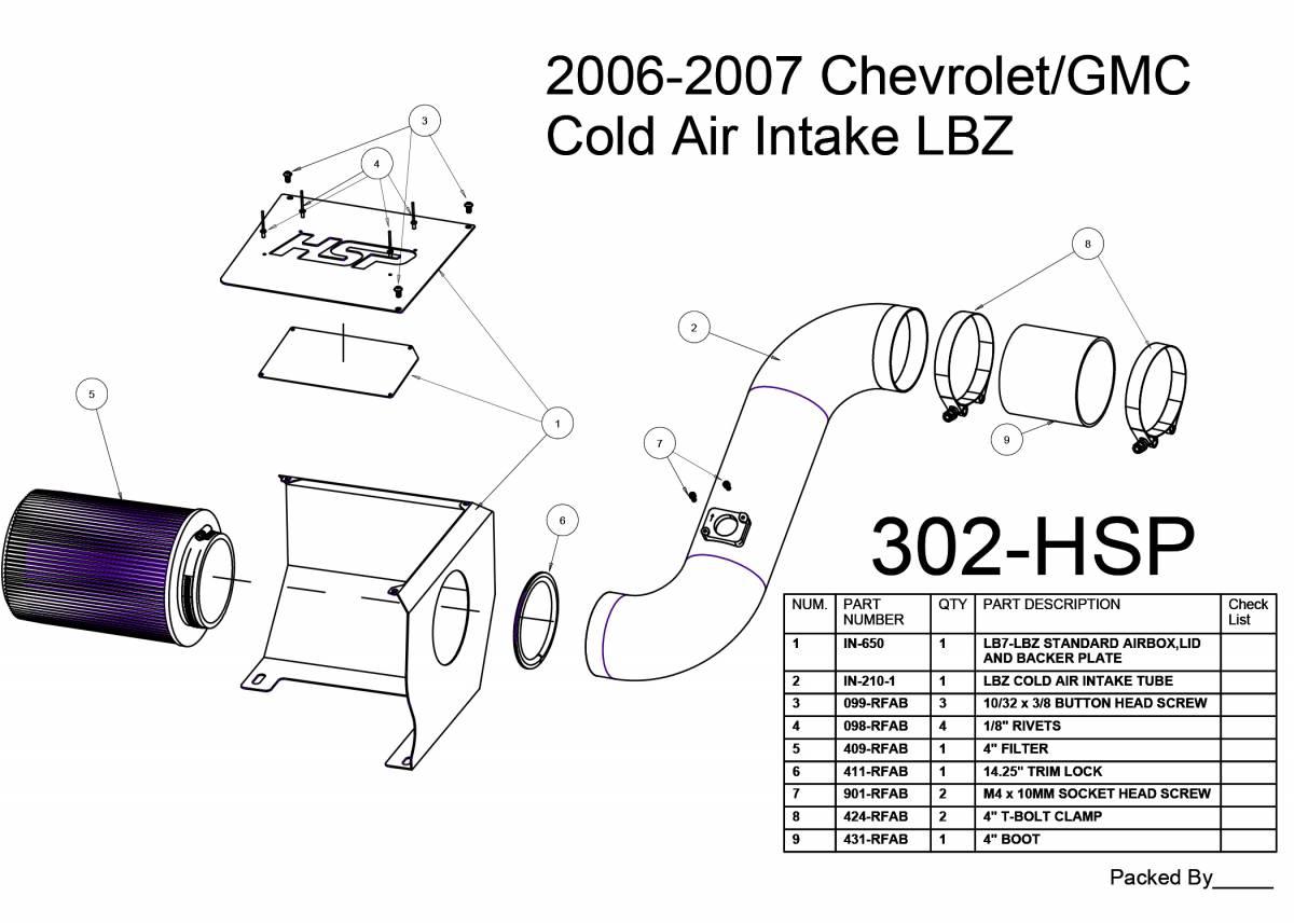 Chevrolet Gmc Cold Air Intake Satin Black Hsp