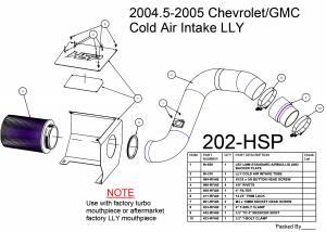 2004.5-2005 Chevrolet / GMC Cold Air Intake Raw HSP Diesel