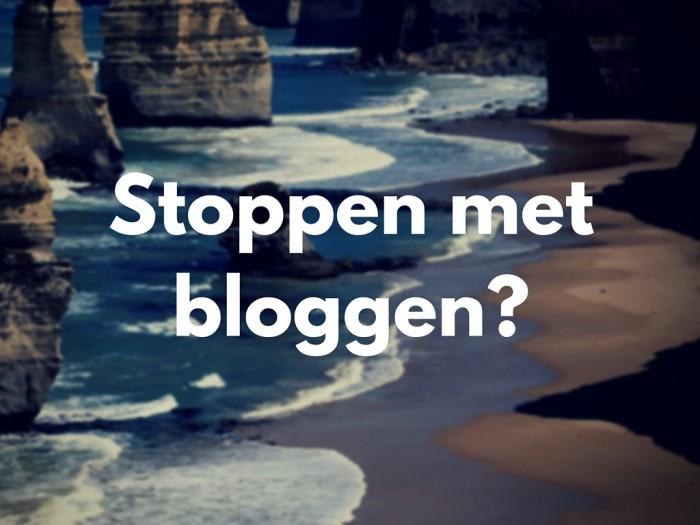 Stoppen met bloggen?