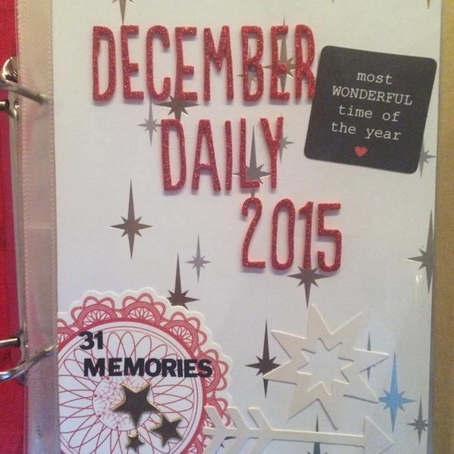 Dit is de beginpagina van mijn December Daily