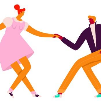 couple danse rock simplifié