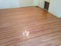 Refinishing clear grade solid Red Oak flooring in Jacksonville